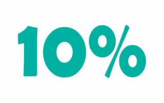 10% НДС онлайн калькулятор. Добавьте или вычтите 10% налога