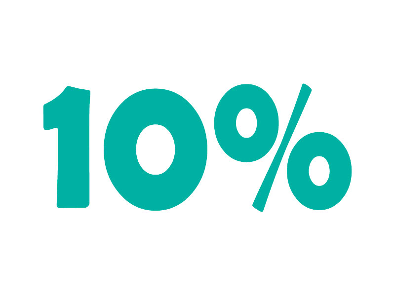 10% VAT online calculator. Add or subtract 10% tax