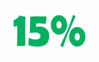 15% НДС онлайн калькулятор. Добавьте или вычтите 15% налога