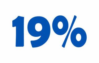19% НДС онлайн калькулятор. Добавьте или вычтите 19% налога