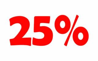 25% НДС онлайн калькулятор. Добавьте или вычтите 25% налога